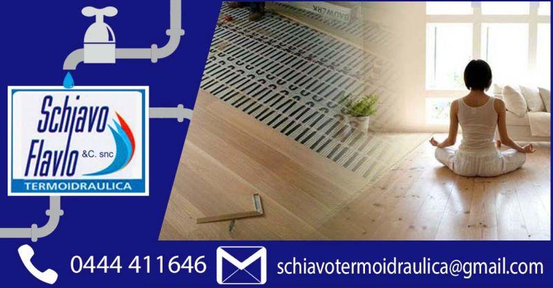 Offerta Sistemi di riscaldamento e raffrescamento radiante a pavimento Vicenza