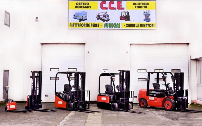 CCE srl offerta vendita carelli elevatori diesel nuovi - promozione transpallet usati elettrici