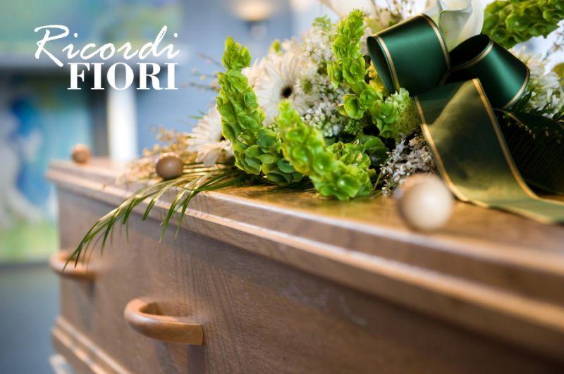 RICORDI FIORI copricassa per bara composizione funeraria - fornitura fiori per funerali